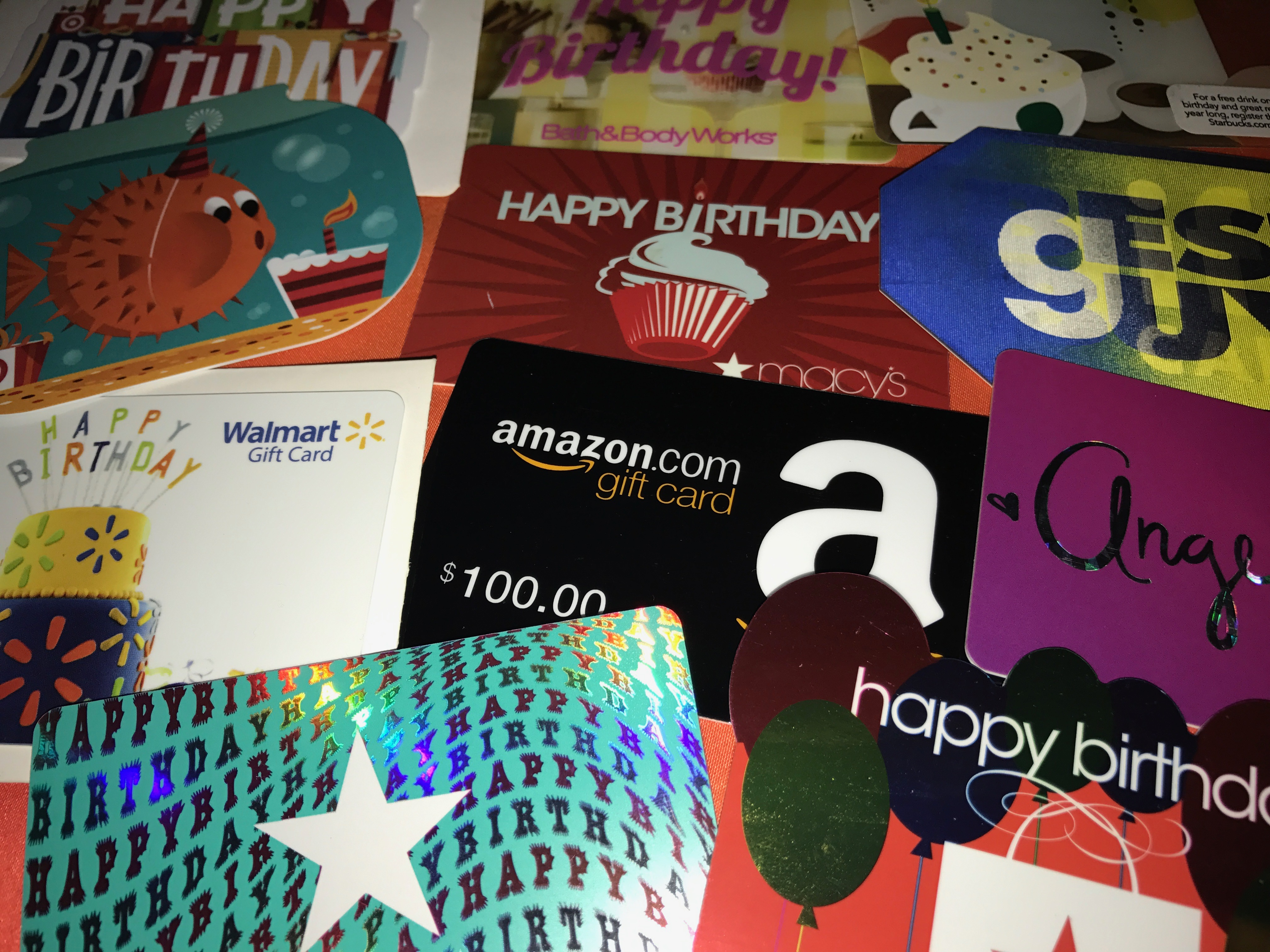 Gift Cards For The Birthday One